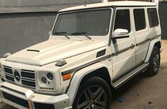 Mercedes Benz G55 AMG 2004 White for sale