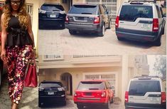 Nollywood voluptuos Daniella Okeke's magnificent car collection
