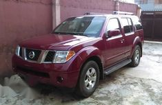 Clean Nissan Pathfinder 2006 Red for sale