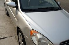 Clean Hyundai Accent 2008 Silver for sale