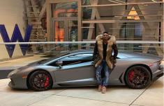 Obafemi Martins (Obagoal) poses with his brand-new ₦91.4 million Ferrari Spider