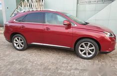 Clean Lexus RX350 2010 Red for sale
