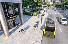 See the robotic dogs delivering goods in self-driving van!