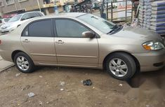Clean Tokunbo Toyota Corolla 2007 Gold for sale