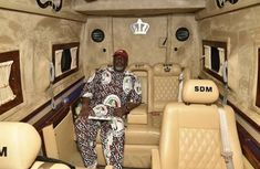 "Dino Melaye: ""Campaign made easy"" inside his Mercedes Sprinter VIP"