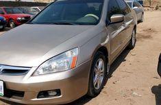 Clean Honda Accord 2007 Gold for sale