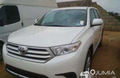 Used Toks Toyota Highlander White 2013 For Sale