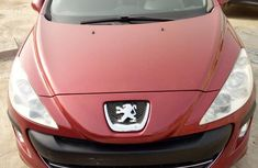 Peugeot 308 2009 Red for sale