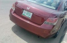 Clean Honda Accord 2008 Red for sale
