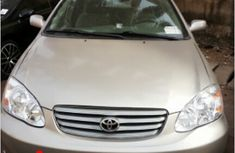 Clean Foreign Used Toyota Corolla 2004 Gold