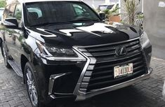 Lexus LX 2017 Black color for sale