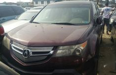 Acura MDX 2008 Red color for sale