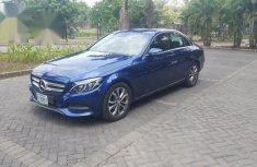 Mercedes-Benz C200 2015 Blue color for sale