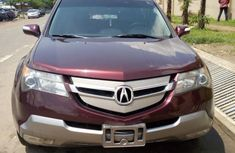 Sparkly clean Acura MDX 2007 Red color for sale