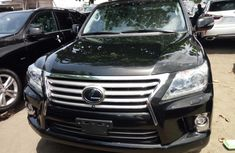 Foreign Used Lexus LX 570 2015 Model Black for Sale