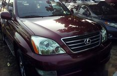 Lexus GX 470 Sport Utility 2008 Red color for sale