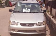 Clean Toyota Corolla 2000 Silver for sale