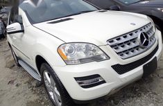 Mercedes-Benz M Class ML350 2011 Whitefor sale