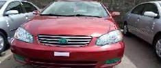 Toyota Corolla 2004 Petrol Automatic Red for sale