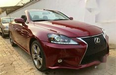 A luxury hard-top convertible Lexus IS 2010 250 C Red color for sale