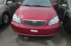 Non accidented Toyota Corolla 2007 Red color for sale