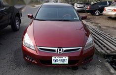 It's a Neatly used Honda Accord 2007 Red color for sale