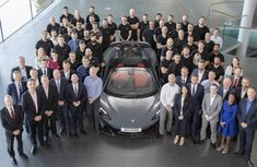 McLaren team celebrate their 20,000th supercar rolled out!