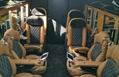 Check out this bulletproof luxury Toyota Coaster bus worth ₦165 million!