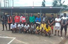 EFCC retrieve Benz & other fancy cars from 22 arrested Yahoo Boys in Delta