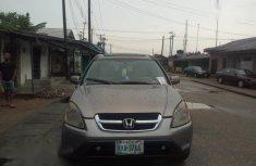 Sell used grey/silver 2002 Honda CR-V suv / crossover at price ₦800,000