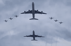 Watch the stunning fly-past by 2 South African Airways A340 during their Presidential inauguration