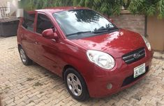 Sell well kept red 2009 Kia Picanto hatchback at price ₦950,000
