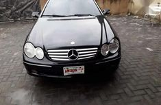 Well maintained black 2005 Mercedes-Benz CLK automatic for sale at price ₦1,950,000