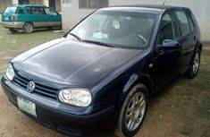 Blue 2001 Volkswagen Golf car at attractive price in Ibadan