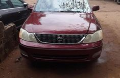 Clean and neat red 2001 Toyota Avalon for sale