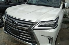 White 2017 Lexus LX suv automatic for sale at price ₦48,000,000