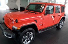 Sell cheap orange 2019 Jeep Wrangler automatic