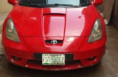 Sell cheap red 2000 Toyota Celica at mileage 90,058