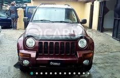 Jeep Liberty 2002 Red color for sale