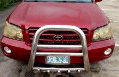 Toyota Highlander 2003 Red for sale
