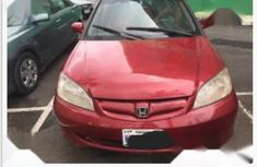 Red 2005 Honda Civic car at mileage 60,000 at attractive price