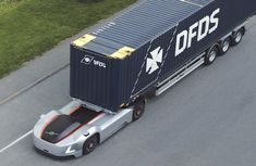 Video of Volvo Vera electric self-driving Hauler vehicle running on public road in Sweden