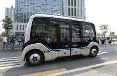 China self-driving smart bus allows passenger to scan biometric data to pay for food