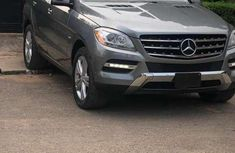 Grey 2012 Mercedes-Benz ML automatic for sale at price ₦8,500,000 in Lagos