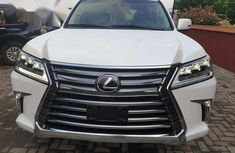 Well maintained white 2018 Lexus LX automatic for sale in Ikeja