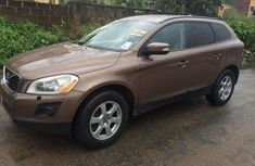 Well maintained gold 2010 Volvo XC60 suv  for sale in Lagos