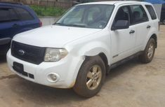 Well maintained white 2008 Ford Escape suv for sale in Lagos