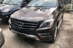 Used brown 2014 Mercedes-Benz ML automatic for sale at price ₦1,000,000
