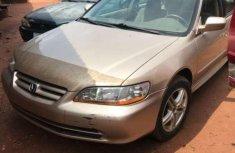 Gold 2001 Honda Accord sedan for sale at price ₦0 in Benin City