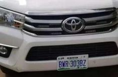 Well maintained white 2017 Toyota Hilux pickup manual for sale